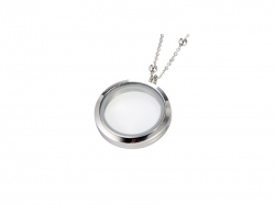 Round Glass Frame Necklace