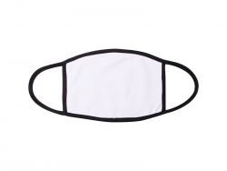Sublimation Face Mask (Black Edge, Large) 20*14cm