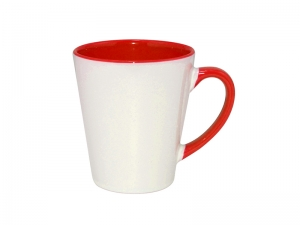 12oz Inner Rim Color Mug (Red)