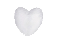 Glitter Heart Shape Pillow Cover (40*40cm,White)