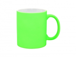 11oz Fluorescent Mug(Frosted, Bright Green)