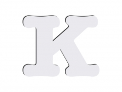 Sublimation HB Letters -K (10*10cm)