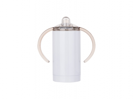 13oz/400ml Stainless Steel Sippy Cup with Spout (White) 2000pcs