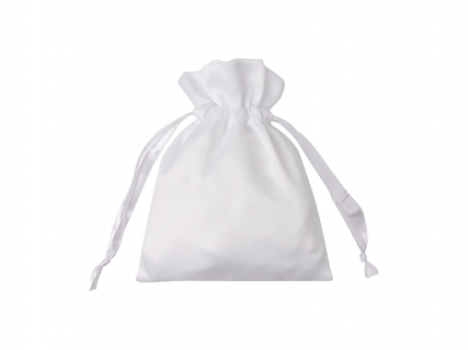 Sublimation White Satin Drawstring Bag(12*17cm)