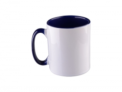 10oz Inner Rim Color Mug(Blue)