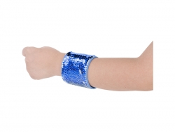 Sequin Bracelet (Blue W/ White)