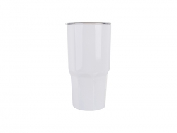 30oz Stainless Steel Tumbler W/ Octagonal Bottom (White)