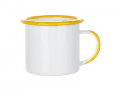12oz/360ml Inner and Rim Enamel Mug (Yellow)