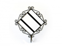 "Metal Tile Frame with Candle Holder for 6"" Tile"
