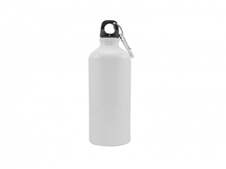 600ml Aluminium Water Bottle White Bestsub
