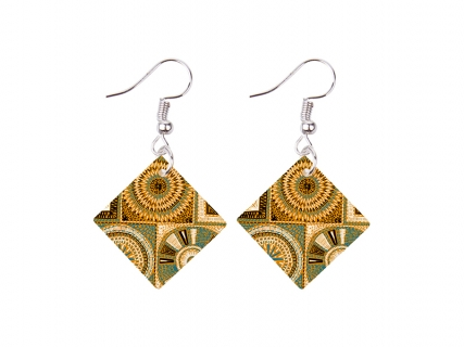 SquareShell Earring (19*19mm)
