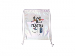 Gradient Drawstring Backpack (White,33*40cm)