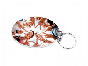 Oval Plastic Keychain 57*82mm