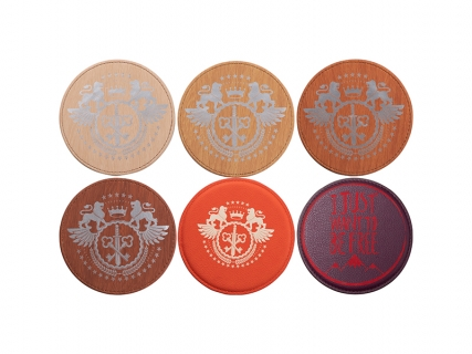 Engraving Leather Coaster (Round, φ10cm)