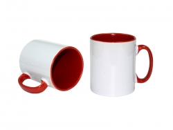 10oz Inner Rim Color Mug(Red)