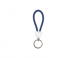 Heart Braided Keyring (Blue)