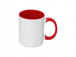 11oz Inner Rim Color Mug - Red