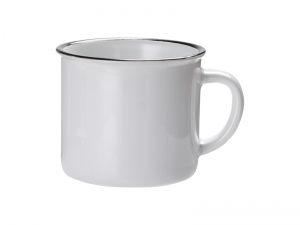 10oz / 300ml Ceramic Enamel Mug (Black)