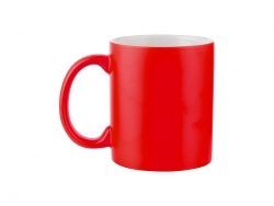 Sublimation 11oz Full Color Mug (Frosted, Red)