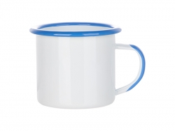12oz/360ml Inner and Rim Enamel Mug (Light Blue)
