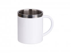 10oz/300ml Sublimation Stainless Steel Mug (White)