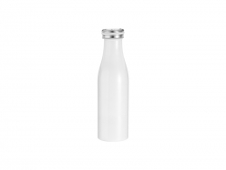 17oz/500ml Stainless Steel Milk Bottle (White)