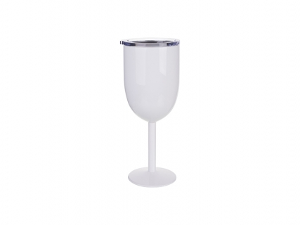 350ml Stainless Steel Wine Glass (White)