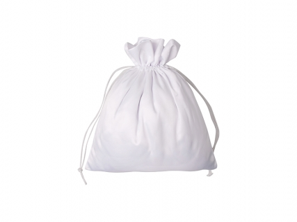 Sublimation White Satin Drawstring Bag(35*38cm)