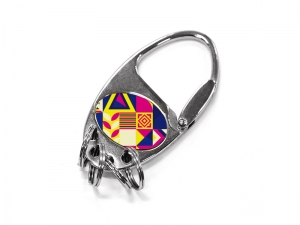 Metal Key Ring with Four Rings (Oval)