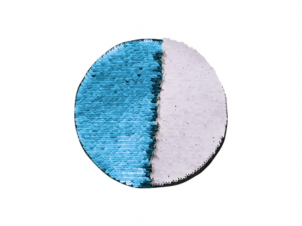 Flip Sequins Adhesive (Round, Light Blue W/ White)
