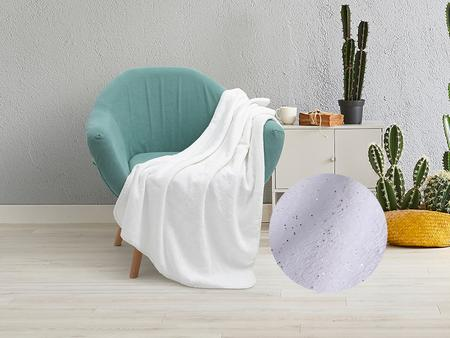 "Silver Glitter Sublimation Minky Blanket(White, 76*101cm/30""x 40"")"
