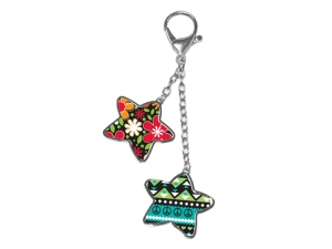 Two-star Bag Decoration Keychain