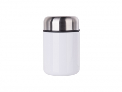 13oz/380ml Stainless Steel Food Jar (White) MOQ:500
