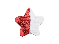 Flip Sequins Adhesive Black Base (Star, Red W/ White) (18*18cm)