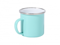 12oz/360ml Colored Enamel Mug (Mint Green)