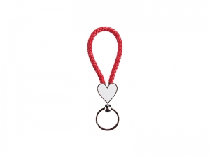 Heart Braided Keyring (Red)