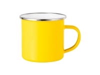 12oz Enamel Mug (Yellow)