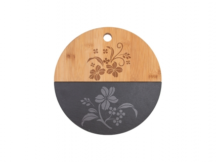 Bamboo with Slate Cutting Board (Round, φ25cm)