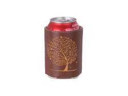 PU Can Cooler (Brown) MOQ: 500