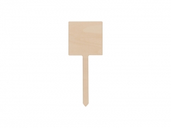 Plywood Garden Stake (Square, 20*40cm)