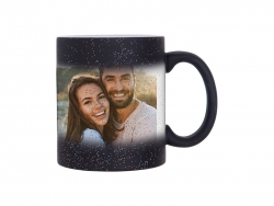 Sublimation 11oz Color Changing Mugs (StarSky Black, Frosted)