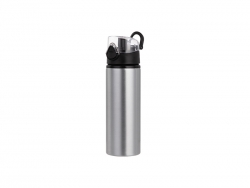 Sublimation 750ml Alu Water Bottle with Clear Cap (Silver) MOQ: 2000