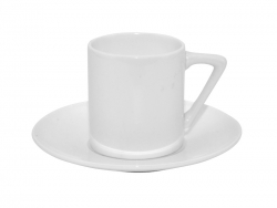 3oz Coffee Mug Set w/ Saucer