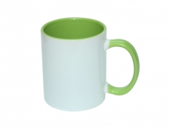11oz Inner Rim Color Mug - Light Green