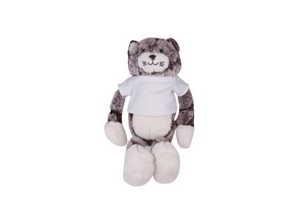 26cm Plush Cat w/ Shirt (Gray)