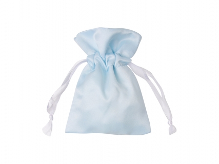 Sublimation Light Blue Satin Drawstring Bag(9*14cm)
