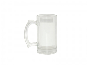 16oz Beer Mug with White Patch