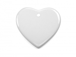 "3"" Heart Ornament with Hole"