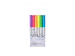Craft Express Joy Sublimation Markers (6 Fluorescent Colors)