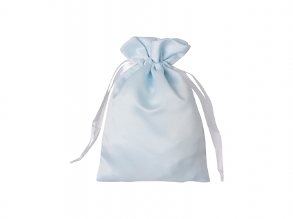 Sublimation Light Blue Satin Drawstring Bag(16*23cm)
